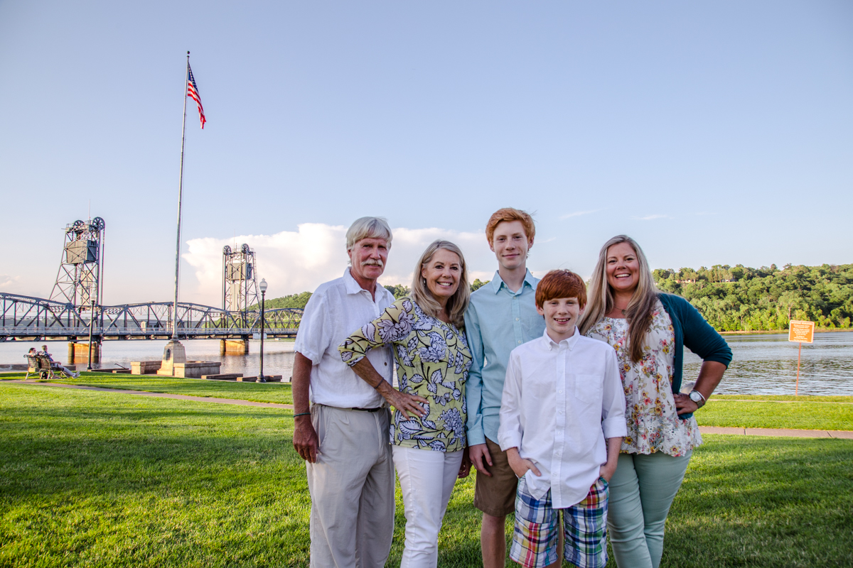 Shelly and her family enjoy a beautiful Minnesota summer day in Stillwater