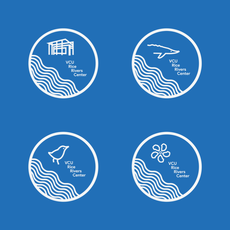 """Each version of the logo can stand on its own or alongside the title of the program. In this format, they act as """"mission badges"""" for the programs they represent."""