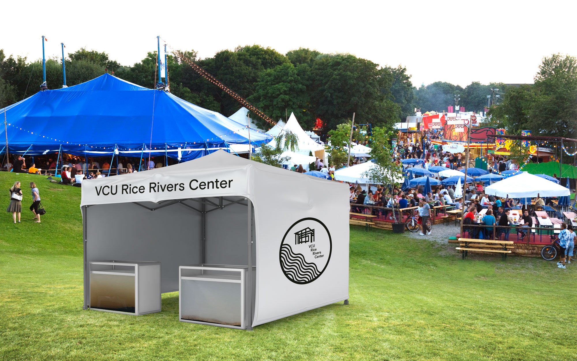 RRC can take this tent to Richmond's many summer festivals and give demonstrations of their work.