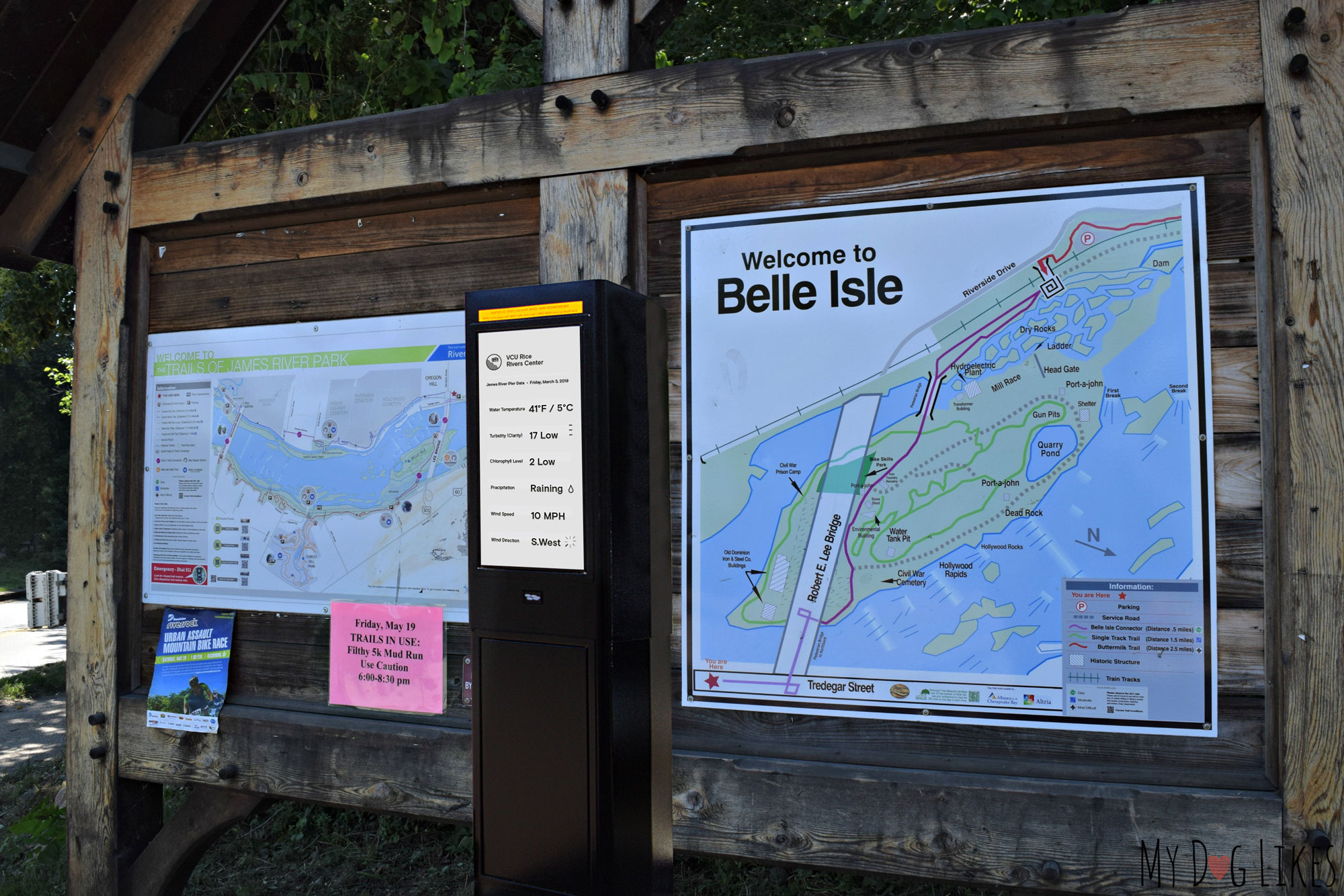The redesigned dashboard can live in physical form at Bell Isle, where many Richmonders go to enjoy the scenic James.