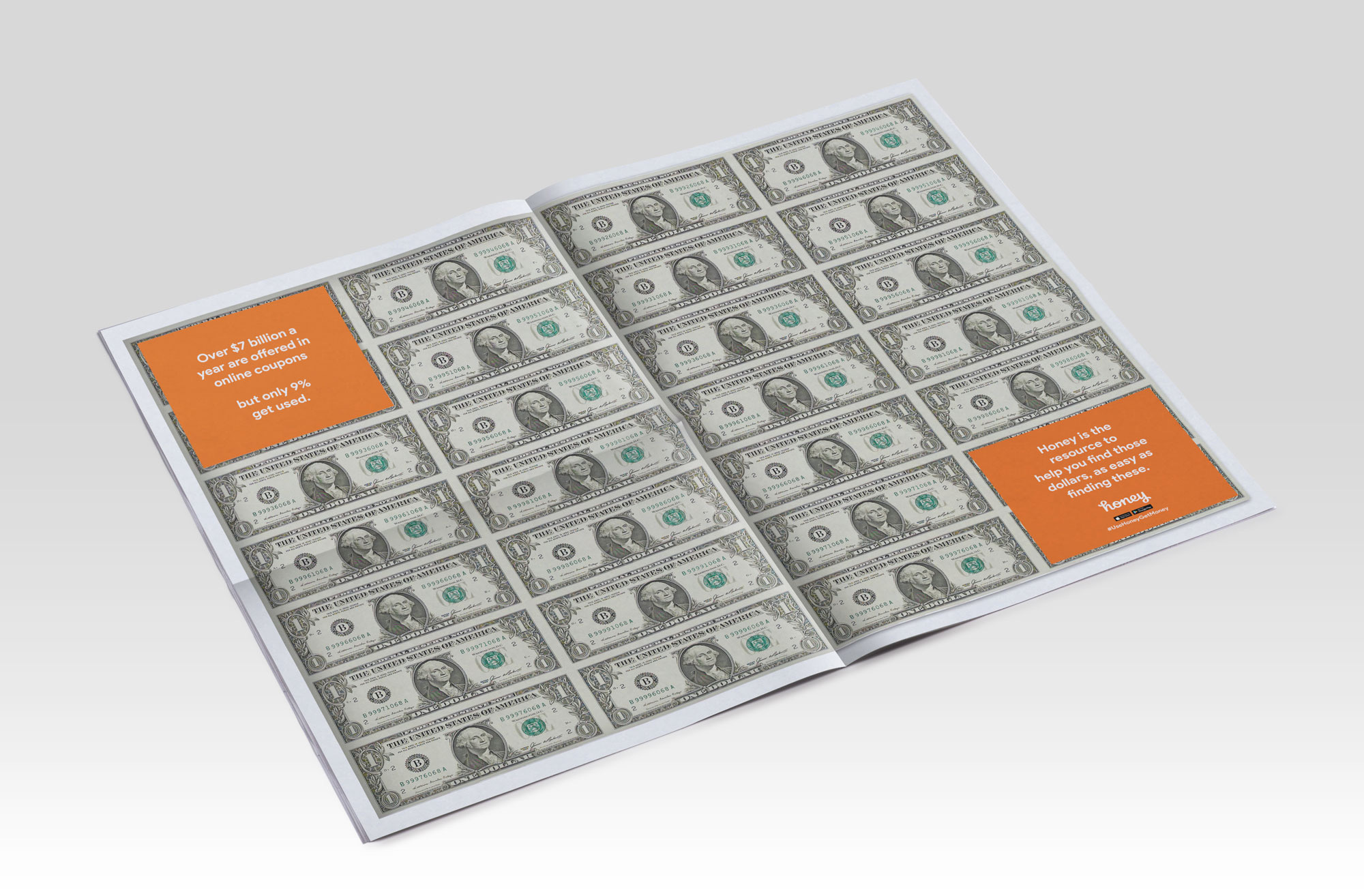 Randomly distributed copies of the paper will feature a center spread filled with real cash.