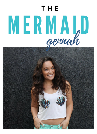 -  While working as a street performer in the heart of Waikiki, Gennah has fooled the world into believing mermaids do exist.Her motivational spirit and obsession with self-improvement, eventually led her to become a  Certified Life & Wellness Coach. Now, it is her mission to help women unveil their inner mermaid by creating a life true to  themselves.