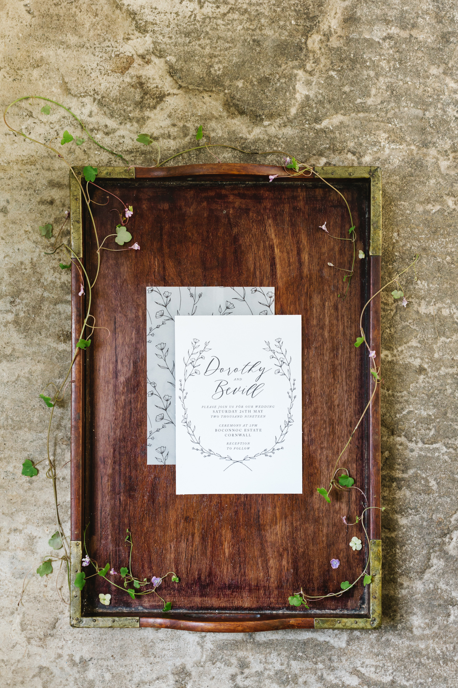 Sincerely May Victorian Botanical Wedding Stationery