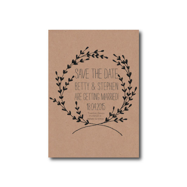 Whimsical Wreath Save the Date - A6