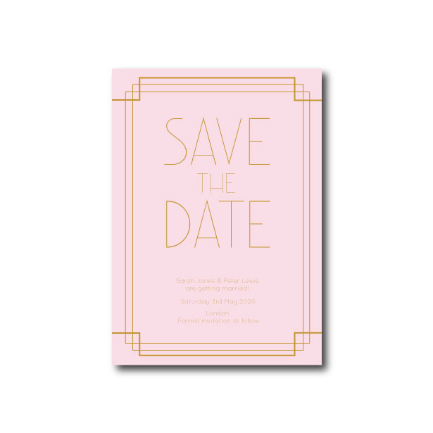 Art Deco Save The Date - A6