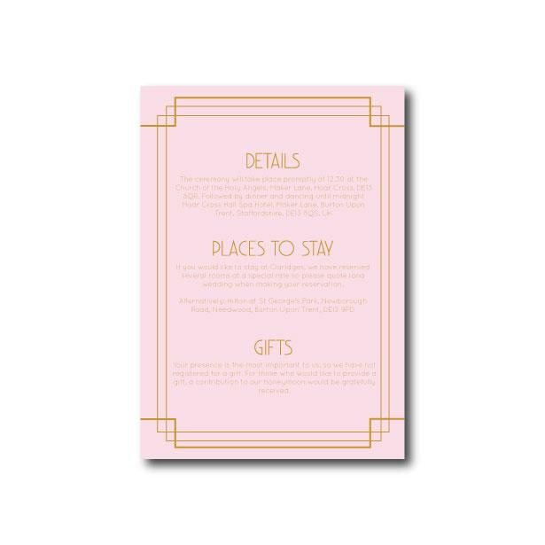 Art Deco Information Card - A6
