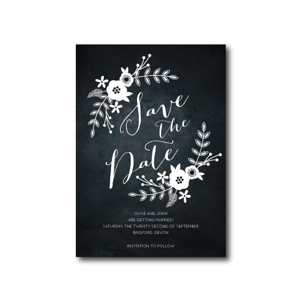 Chalkboard Save The Date - A6