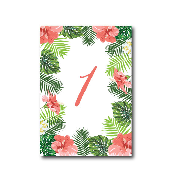 Hawaiian Tropical Table Number - A6