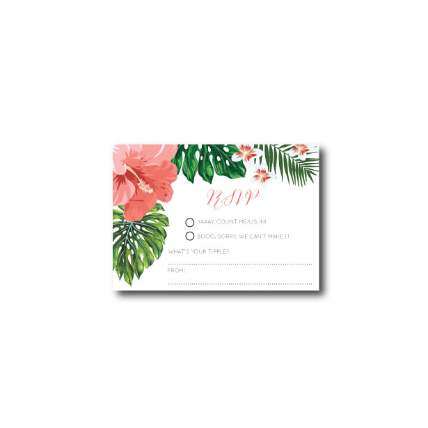 Hawaiian Tropical RSVP - A7