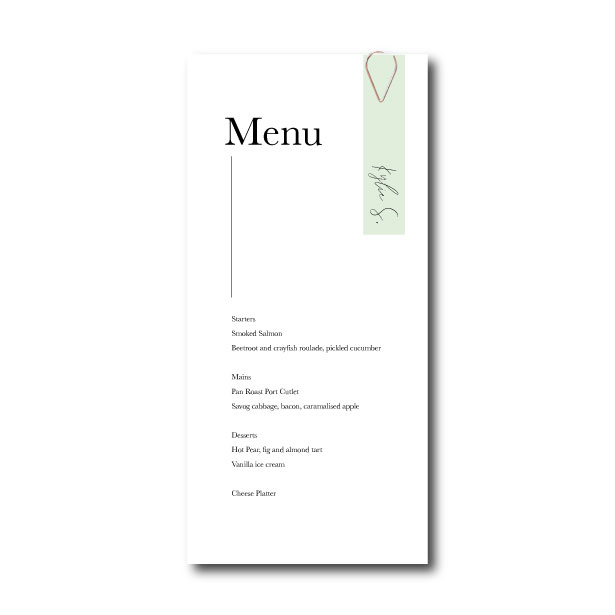 Minimalism Menu - DL with place name