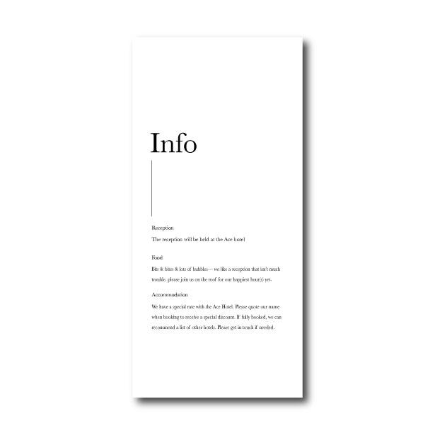 Minimalism Information Card - DL