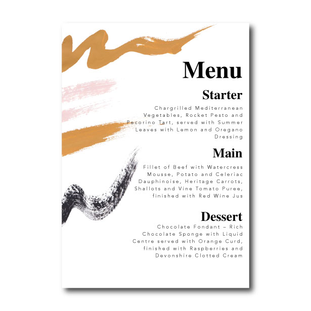 Brush Marks Menu - A5 or 5x7