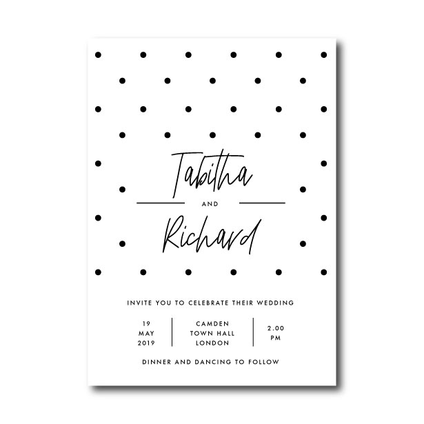 Speckle Wedding Invitation - A5 or 5x7