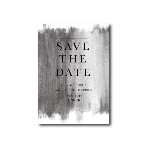 Watercolour Wash Wedding Save The Date - A6 or A5
