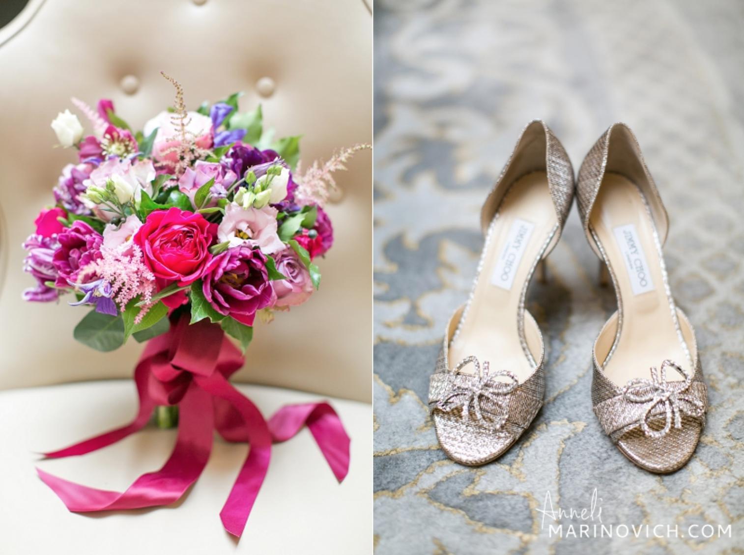 London Wedding Florist Jimmy Choo Shoes