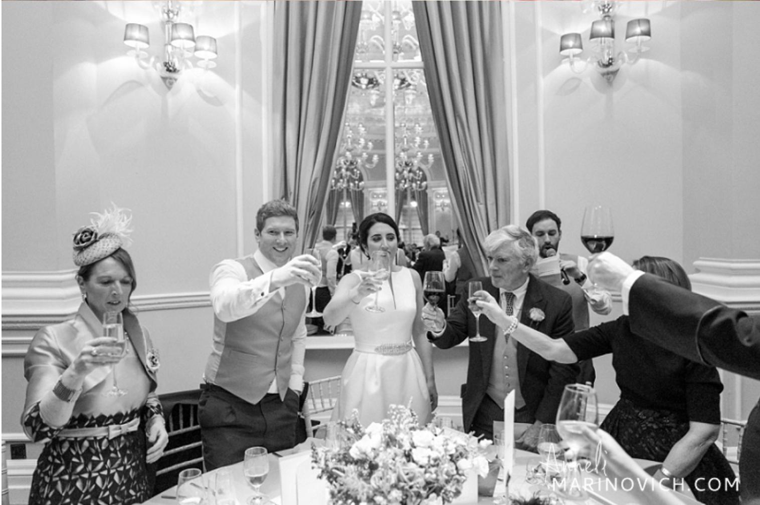 Corinthia Hotel London Wedding Bride and Groom