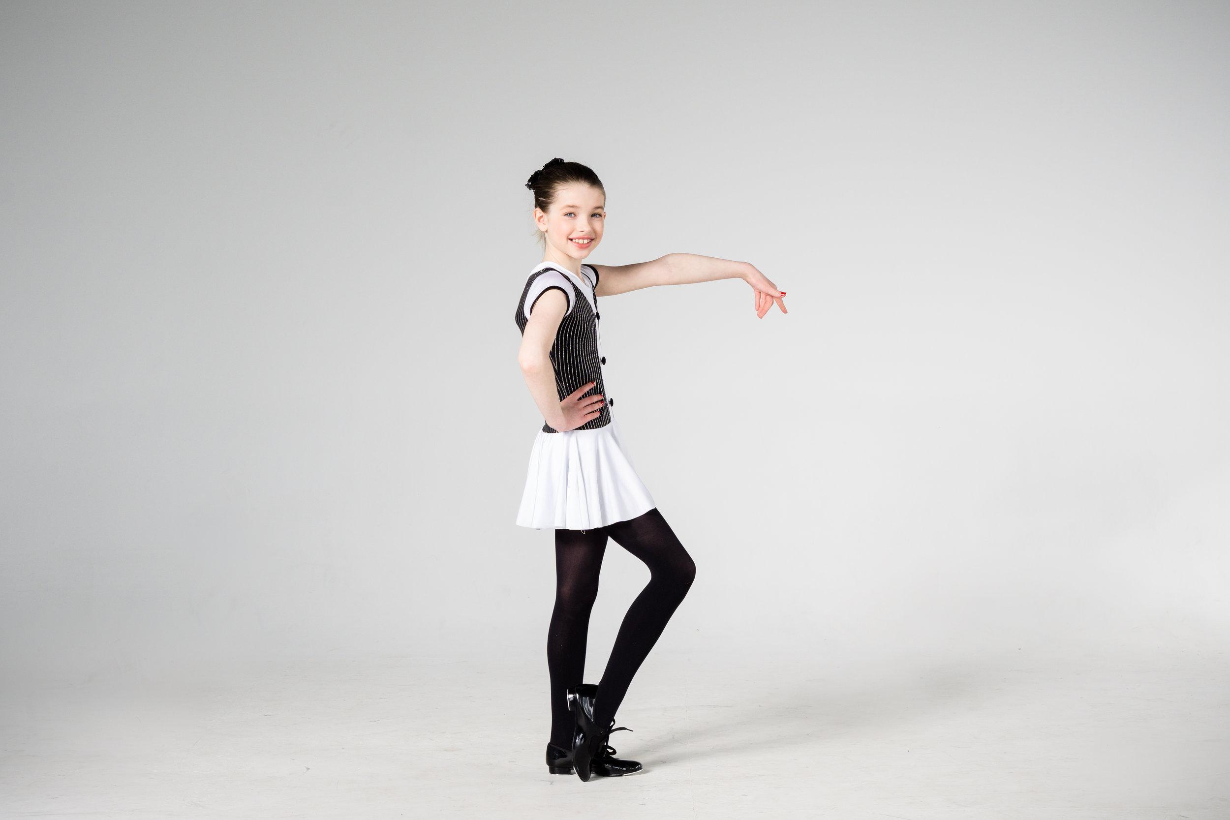 young tap dancer posing