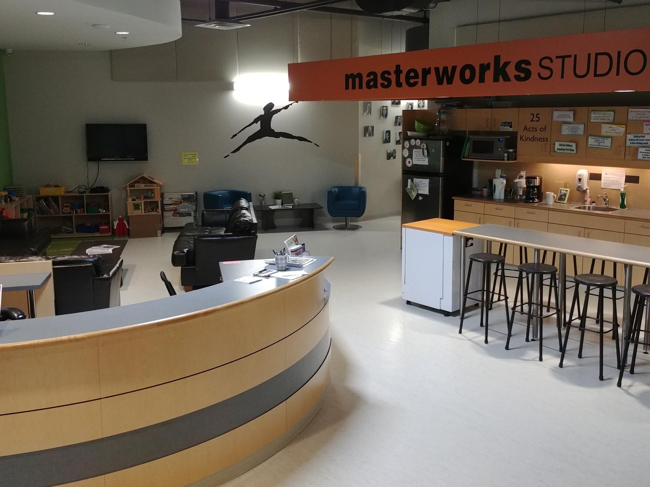 masterworks lobby area