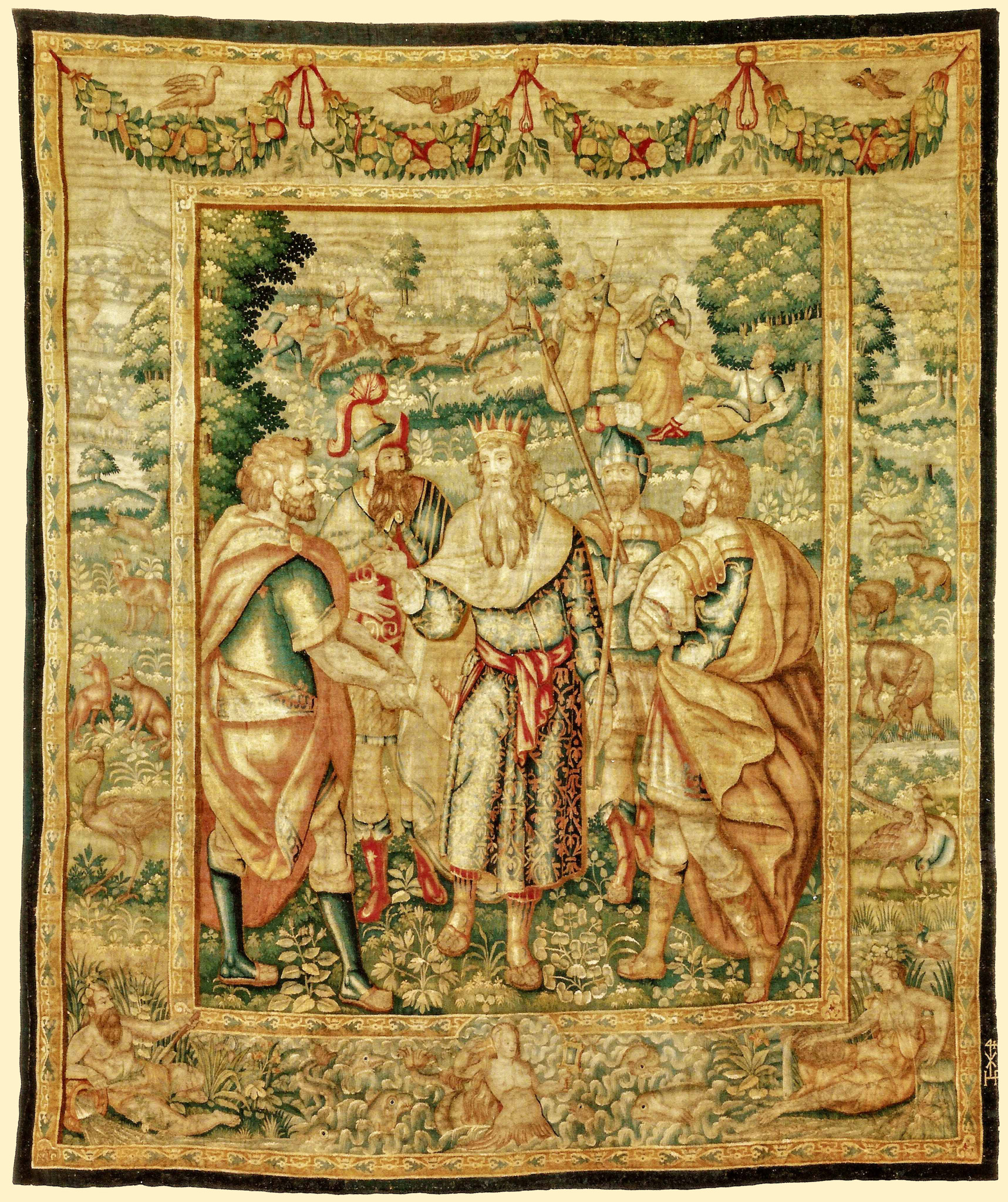 """Episodi della guerra di troia""""Episodes of Trojan War"" - Bruxelles, 1620 circa Arazziere Franz Van Den HeckeArazzo trama di lana e setaAlt. cm 304cm x 260cm largh.____________________Bruxelles abaut 1620Workshop Franz Van Den Hecke Wool and Silk tapestry, high 10 ft, wide 8 ft 8in>>>Click the image to enlarge"
