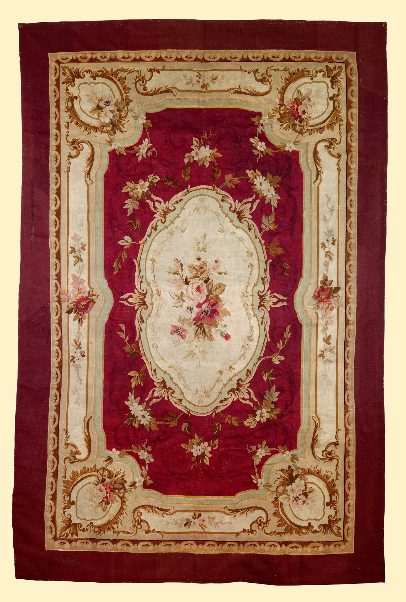 """Tappeto Aubusson""""Aubusson carpet"" - Francia '800200 cm x 308 cm____________________France 19th century6ft 8in x 10ft 3in>>>Click the image to enlarge"