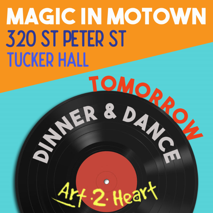 """There is not enough contrast between the white font and the bright orange background making the text unreadable. The bright red-orange and turquoise is a vibrating color combination. This """"visual vibration"""" makes the text difficult to read.  The words """"Magic in Motown"""" will disappear on the digital board and the date will fail to catch the attention of the passerby."""