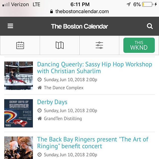 Thanks @thebostoncal for having our Dancing Queerly fundraising workshop in the calendar for tomorrow. There is still space available. Tickets on bio. $20 or $40 donation to benefit @trevorproject
