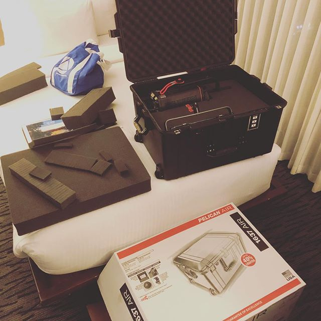 You know you're a nerd when you're excited to customize your new @pelican case in the hotel room before the #filmshoot