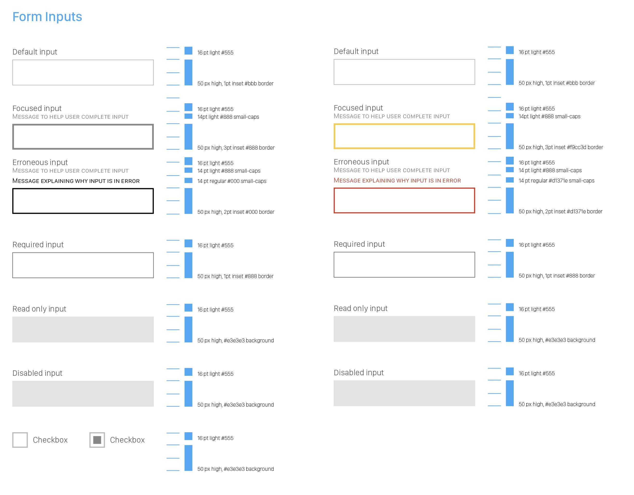Form inputs