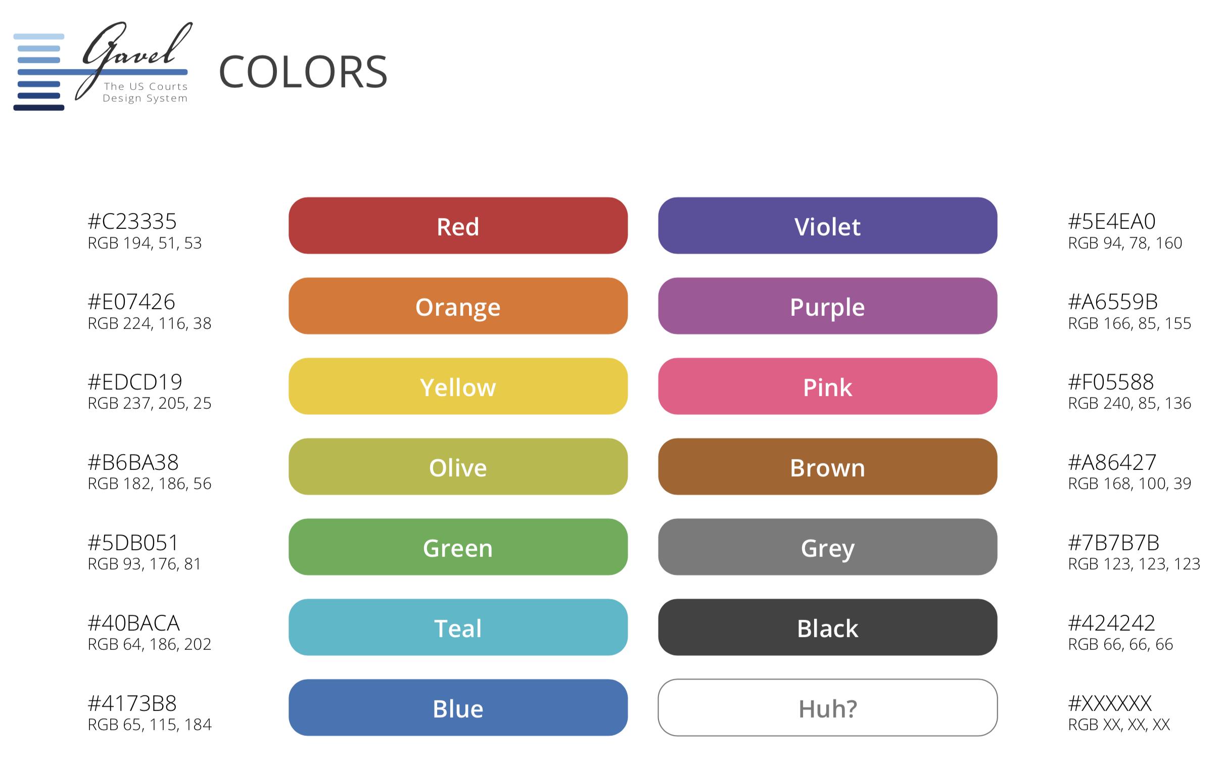 Design system colors