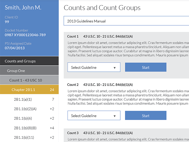 Count groups mockup