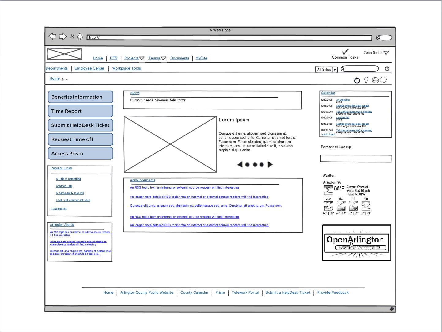 Sharepoint wireframe