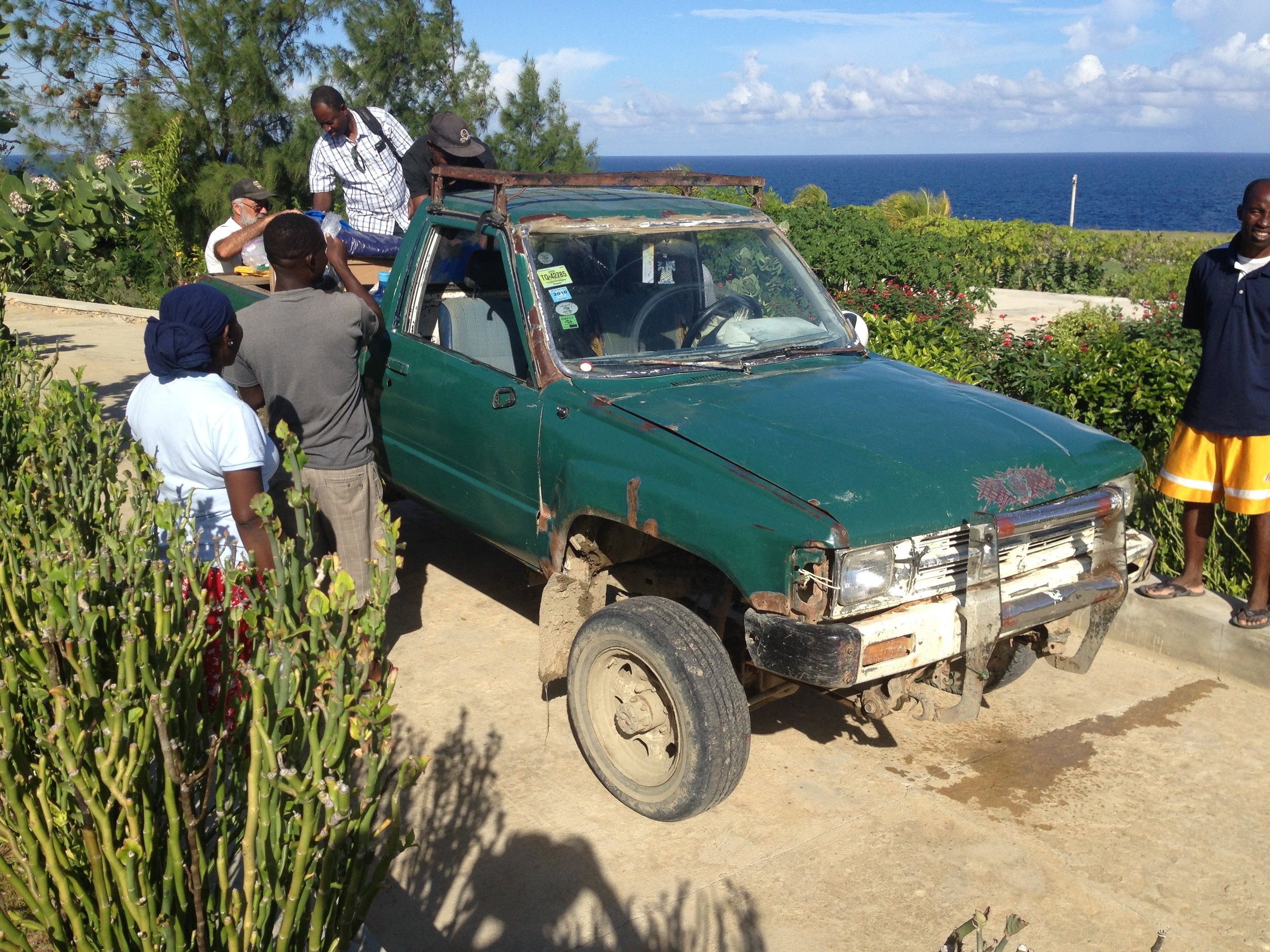 This old Toyota truck just keeps on trundling along the dirt roads of Jean Rabel.