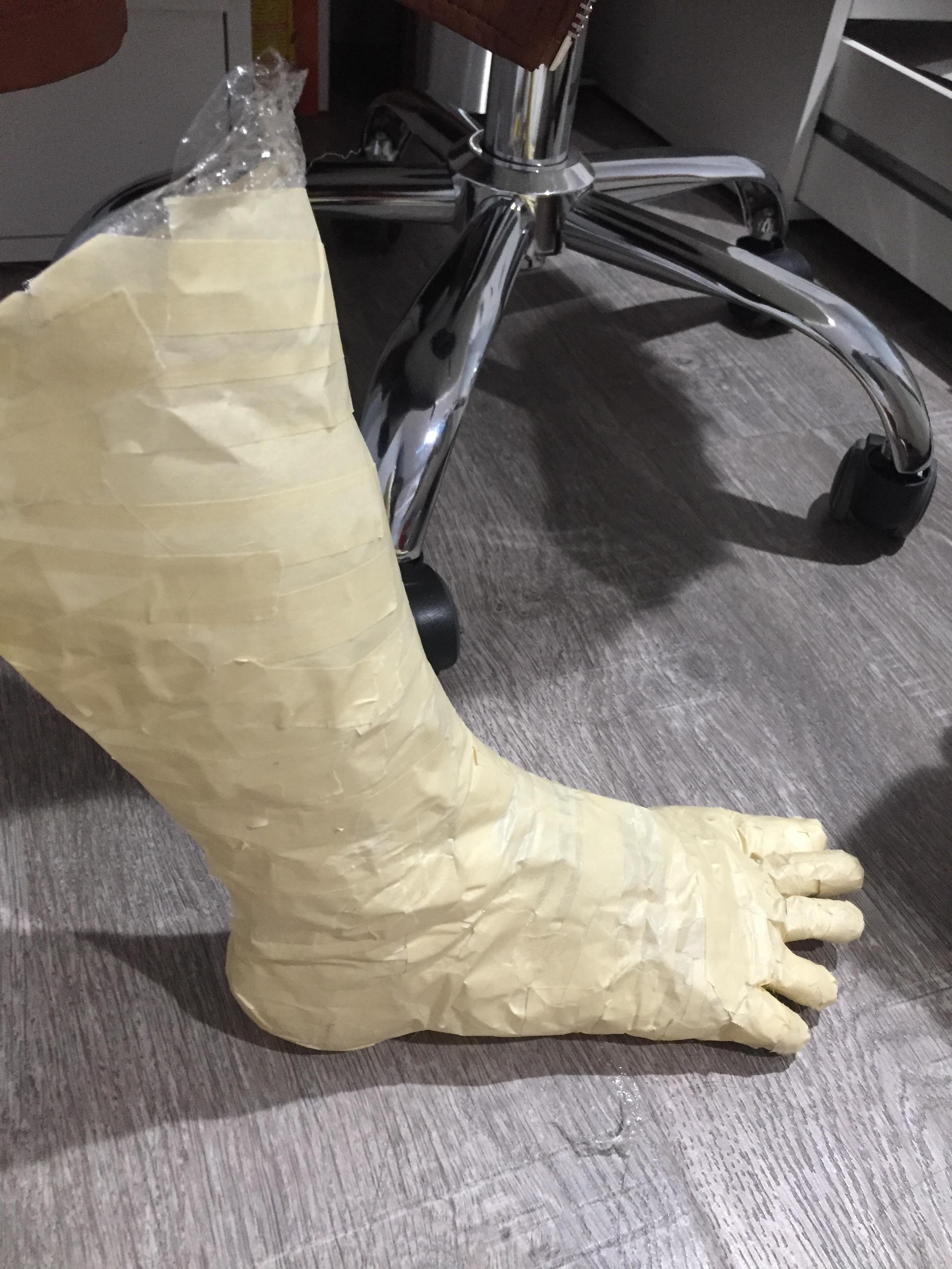 A fake foot I made