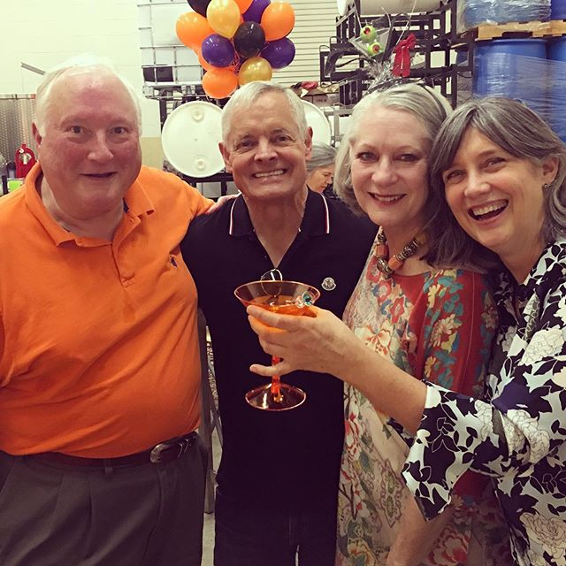 We'll drink to that! 65 glorious years for @duckworthvodka 's Lee Fuqua. Getting to toast with *2* clients, including @ralphmrandall, extra special! . . . @jobstrandallgroup @duckworthdistillery  #duckworthvodka #trufflevodka #texasvodka #dallasdistillery #dallasvodka #cocktails #martinis #trufflemartini