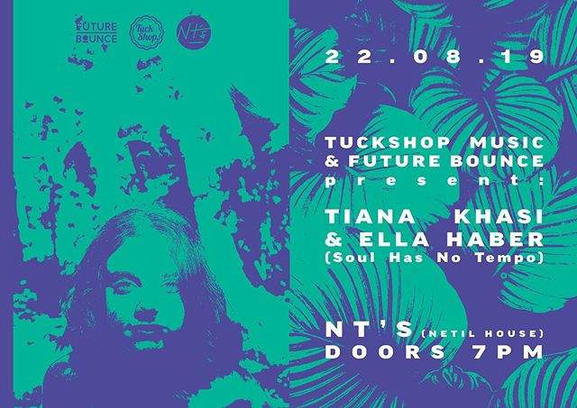 LONDON CREW ROLL CALL!  In two weeks time (Thursday 22nd) @tianakhasi & @ellahaber.wav play NT's Loft! In collaboration with @jamzsupernova's label @future_bounce and @tuckshopmusic catch the girls first show together in London! Ticket link in bio 🎟️