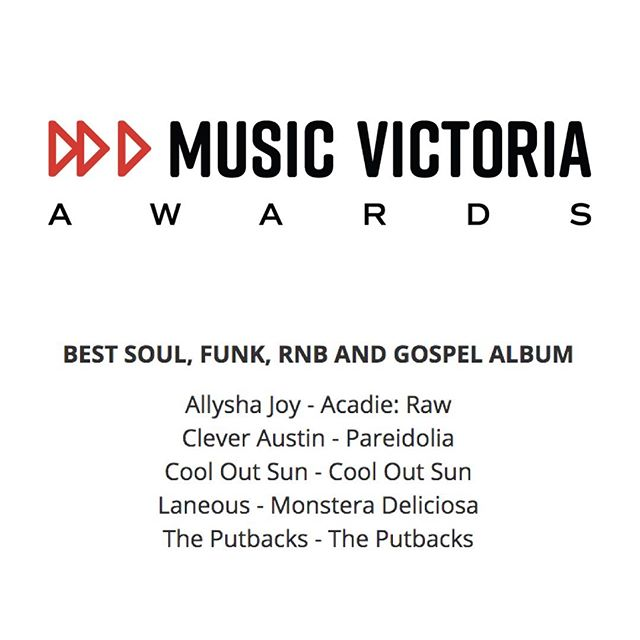 Big congratulations to @laneous. 'Monstera Deliciosa' has been nominated for 'Best Soul, Funk, RnB and Gospel Album' at this years @musicvictoria awards, alongside @allysha_joy @cleveraustin_ @cooloutsun @theputbacks ❤️