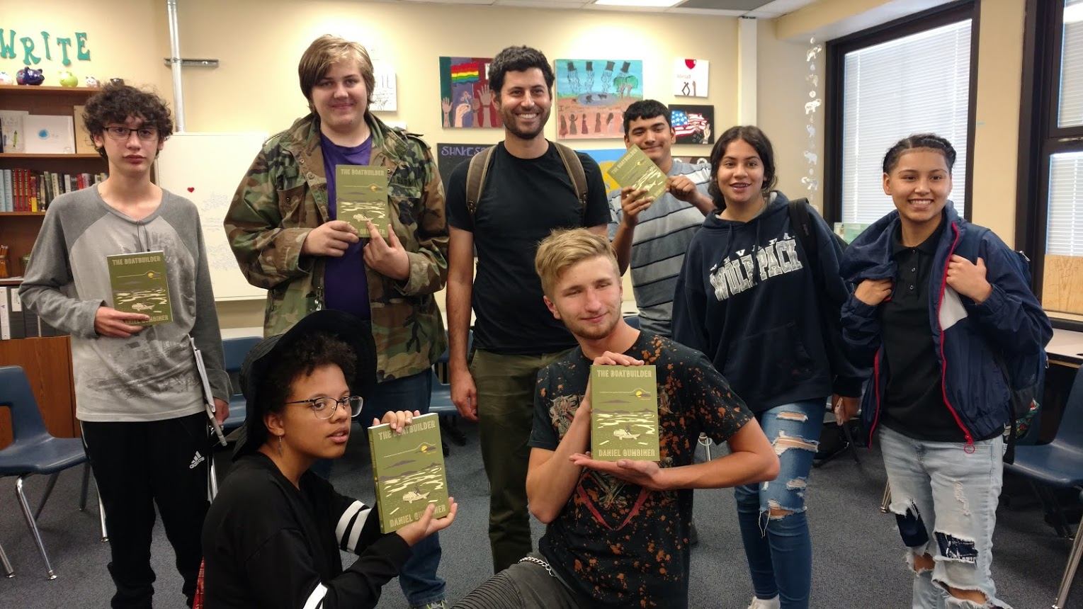 CFB_Author Daniel Gumbiner with students from Innovations High School in Reno.jpg
