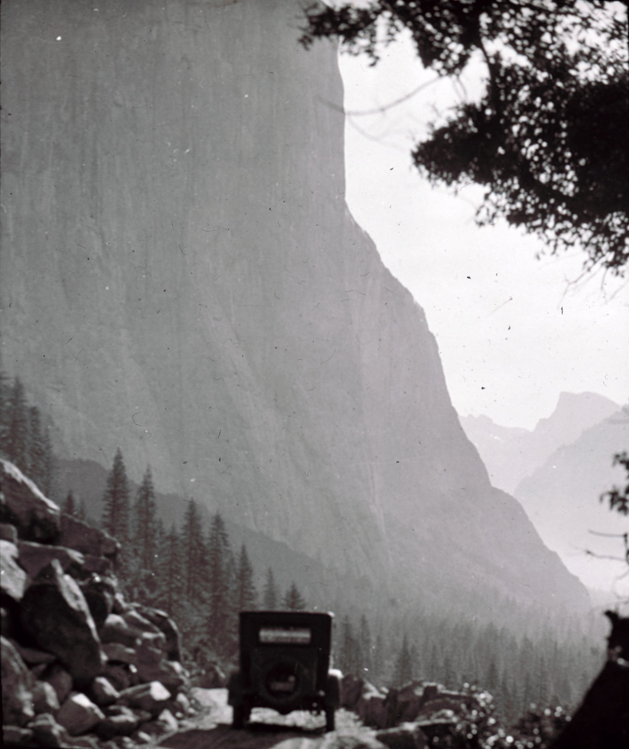 Yosemite, 1923, showing how roads were designed to feature dramatic views.   Image/ Special Collections Department, University of Nevada, Reno, Libraries