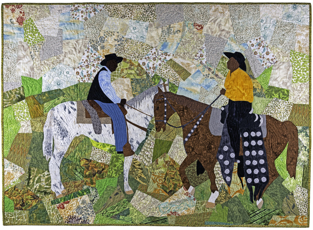 Announcing the artwork for the 2020 Gathering poster:  Trail Blazers  (2013), by quilt artist and National Endowment for the Arts National Heritage Fellow,  Marion Coleman . From the collection of Arkainee Ervin.