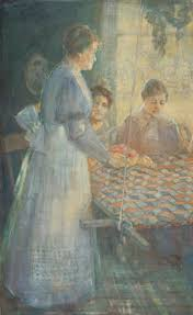 women working Minerva Teichert Art