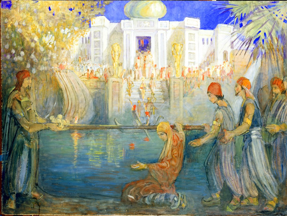 Minerva Teichert Art Leih iron rod baptism