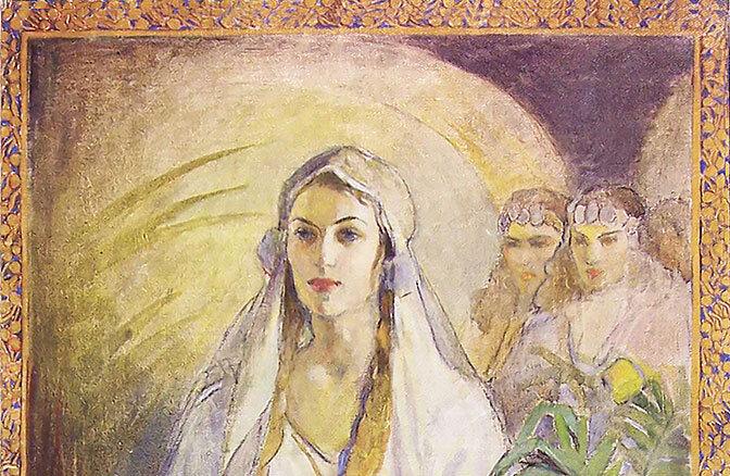 Queen Esther With Painted Border Minerva Teichert Art 50 Off