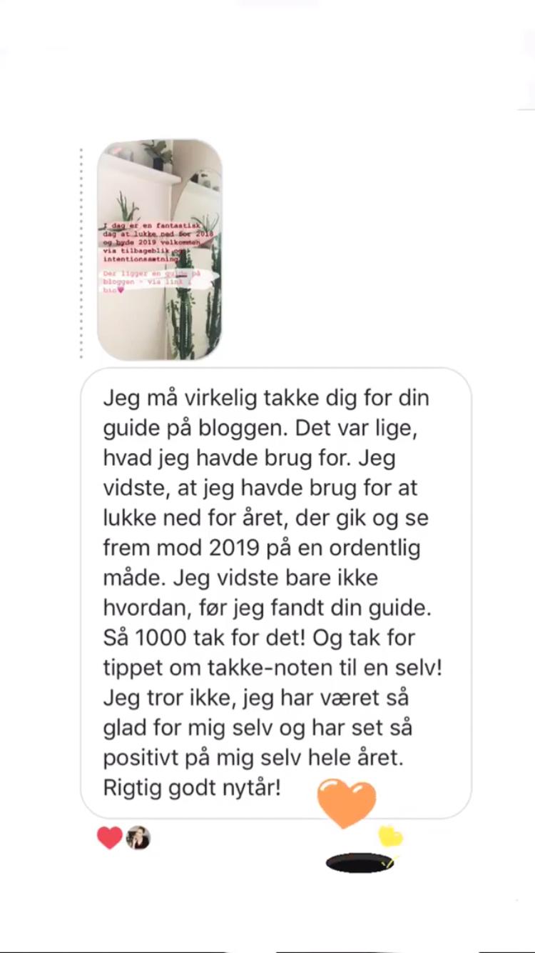 - Smuk feedback på årsguiden via instagram.