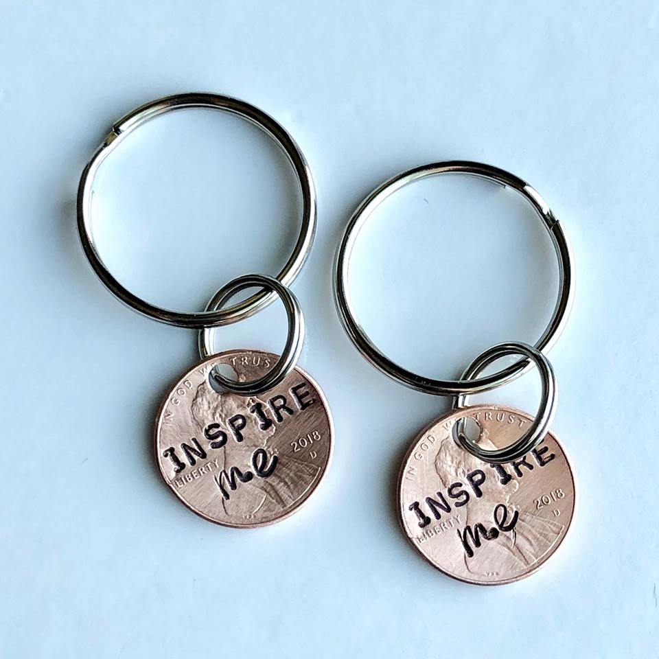 Hand Stamped Penny Keychains