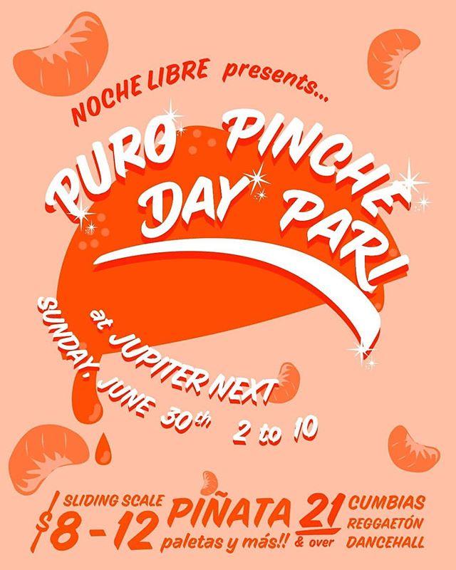 Back at it Sunday JUNE 30th with the homies @nochelibrepdx 🔥💃🏽👙👑💋🤟🏽🇲🇽 Sunday 6.30 2-10PM Jupiter Next $8-10 sliding scale #puropinchepari #cumbias #reggaeton #dancehall #liveyourbestlife #summer