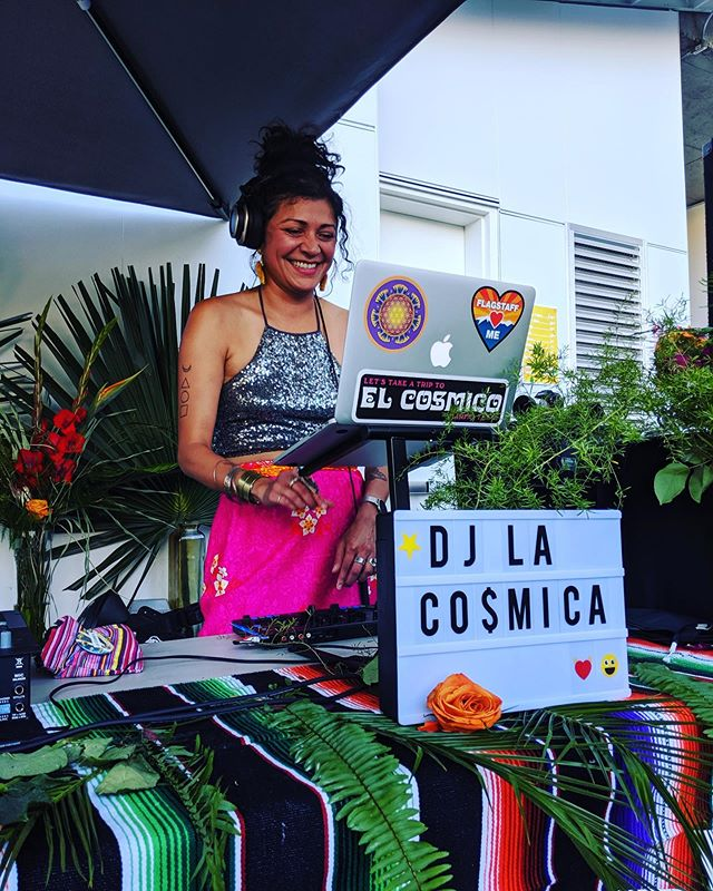 """Is life supposed to feel this good? YES! Happy moment captured by @theartspj 😘  Dance floor highlights :: 💃🏽 Lizzo - """"Tempo"""" Diana Ross - """"Love Hangover"""" Cheryl Lynn - """"Got To Be Real"""" Elvis Crespo - """"Tu Sonrisa"""" J Balvin - """"Mi Gente""""  #nochelibre #djlacosmica #brownmusic"""