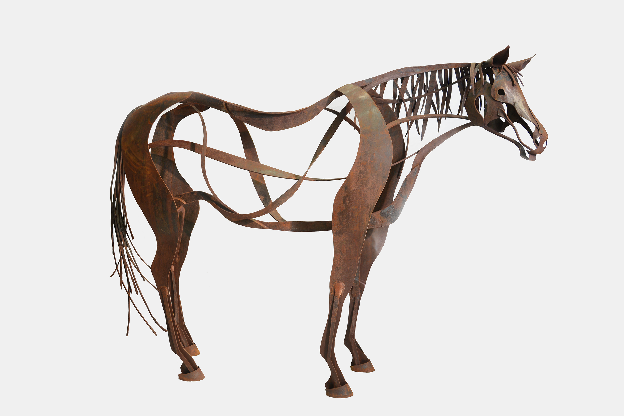 Contemporary Metal Horse Sculpture.jpg