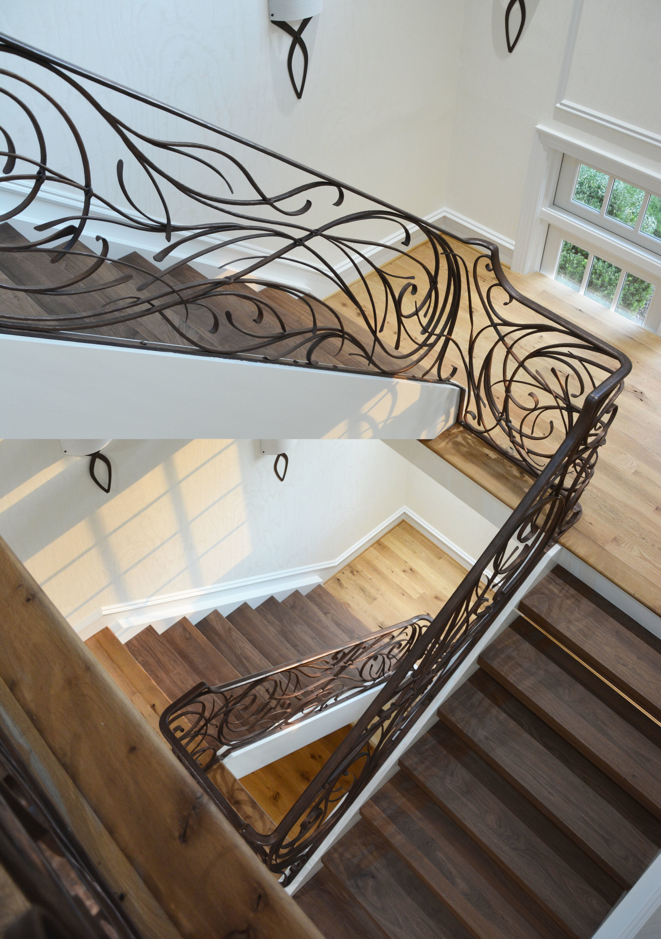 ARCHITECTURE - The architectural metalwork we create is rooted in functional design with an emphasis on sculptural details. Working with old world, craftsman techniques permits us to hammer out forms, textures, and designs found only in our work. We take great pride in designing work appropriate to our clients style and architecture of the space.