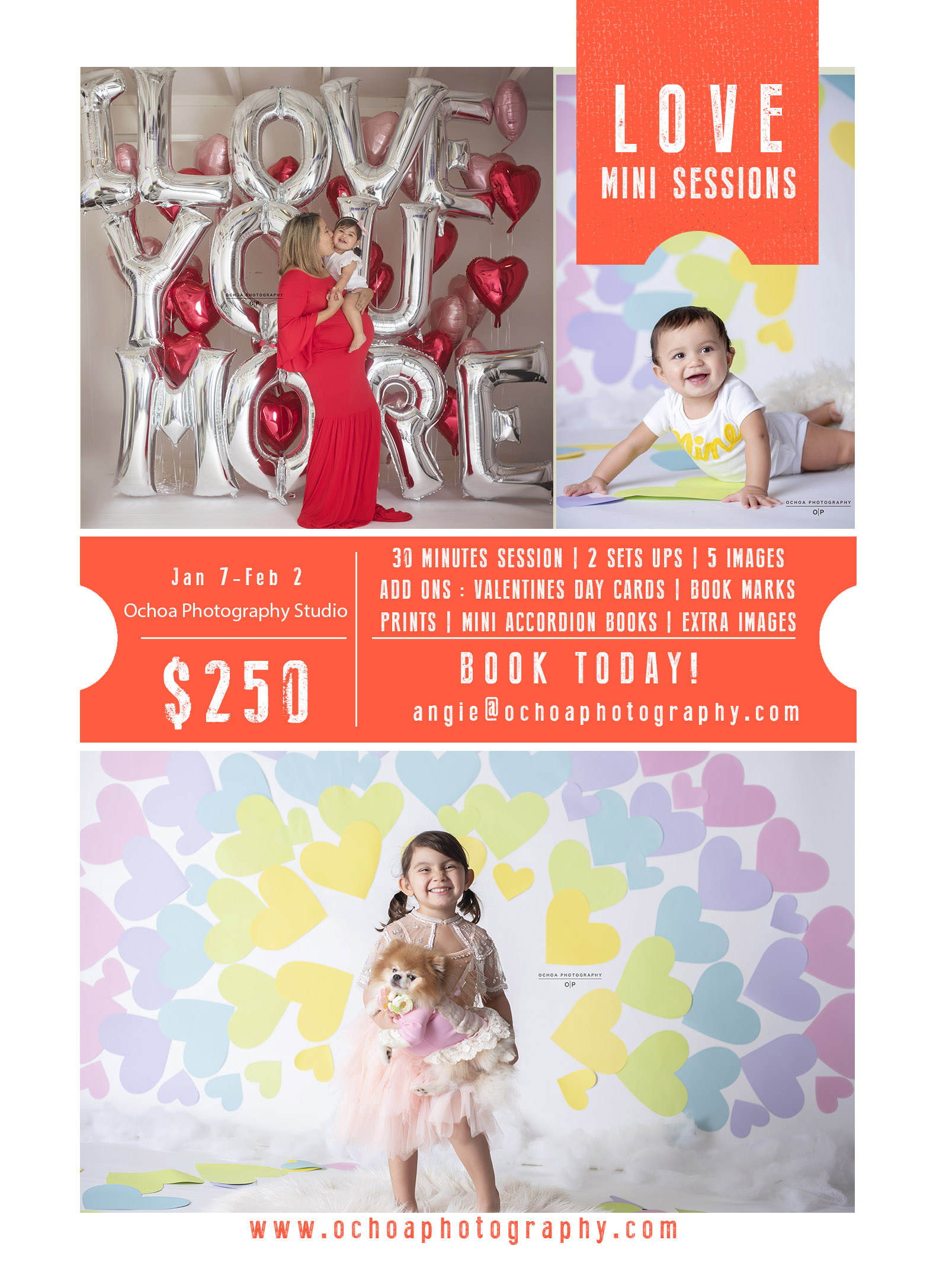 Here are a few sets that I will be offering 4 sets, and you can choose 2. We have 2 amazing backdrops that are handmade by the Fabulous    Diana Sanchez  !