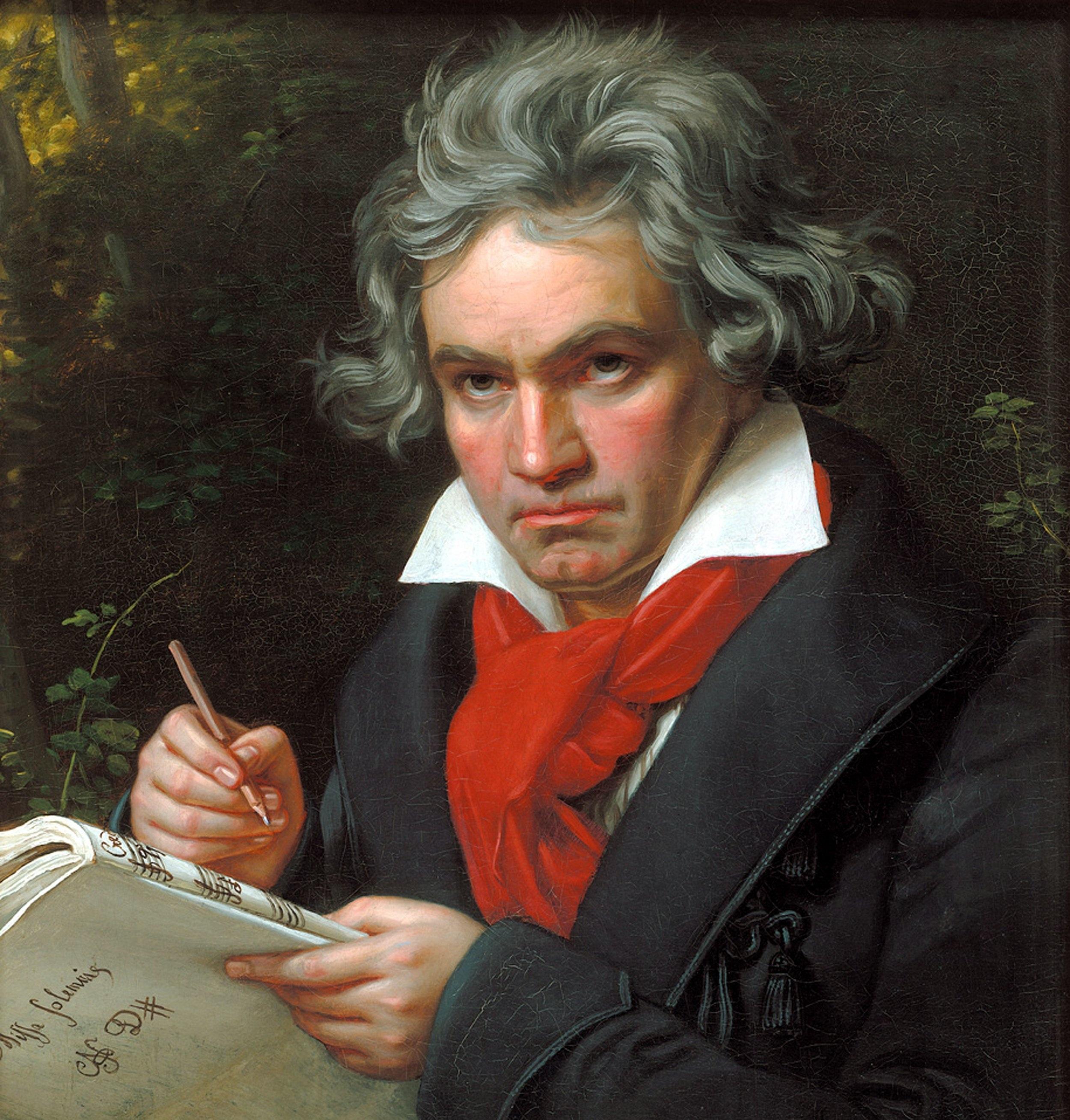 Painting of Ludwig van Beethoven